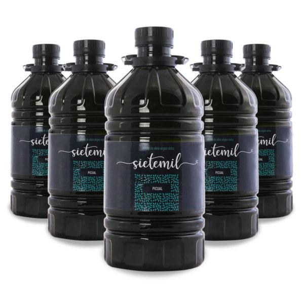6 unidades de Aceite de Oliva Virgen Extra Sietemil 2L