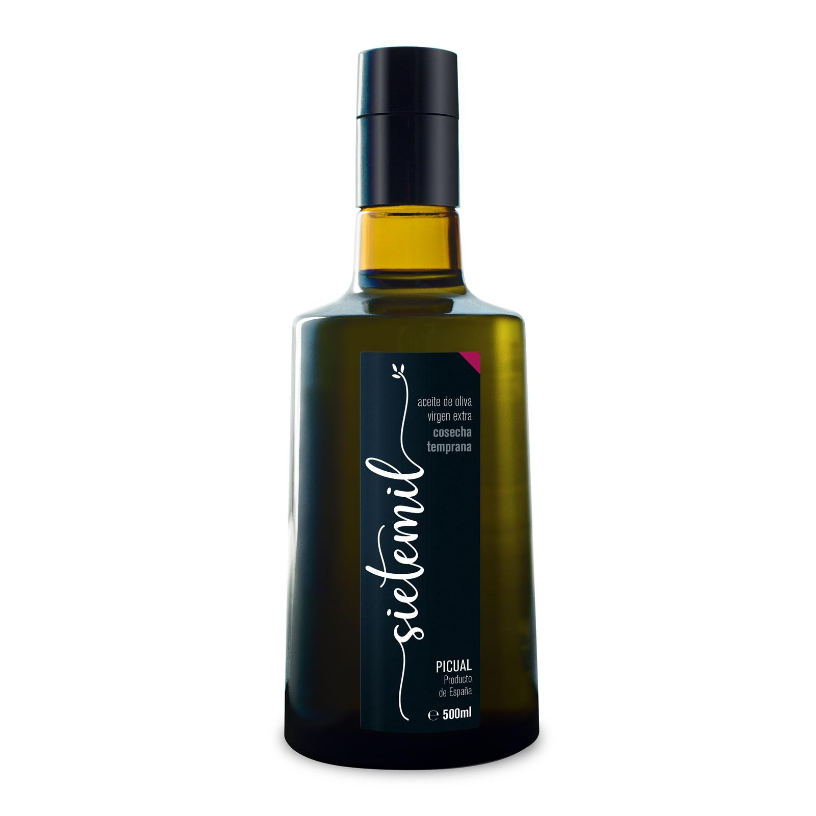 Aceite de Oliva Virgen Extra Sietemil Cosecha Temprana 500ml