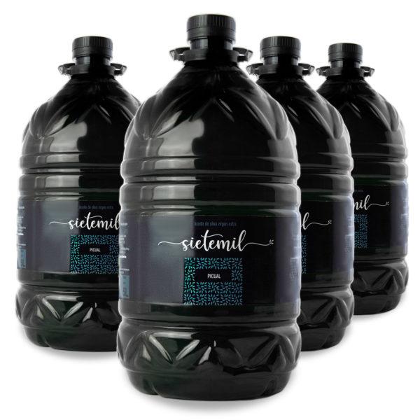 4 unidades de Aceite de Oliva Virgen Extra Sietemil 5L