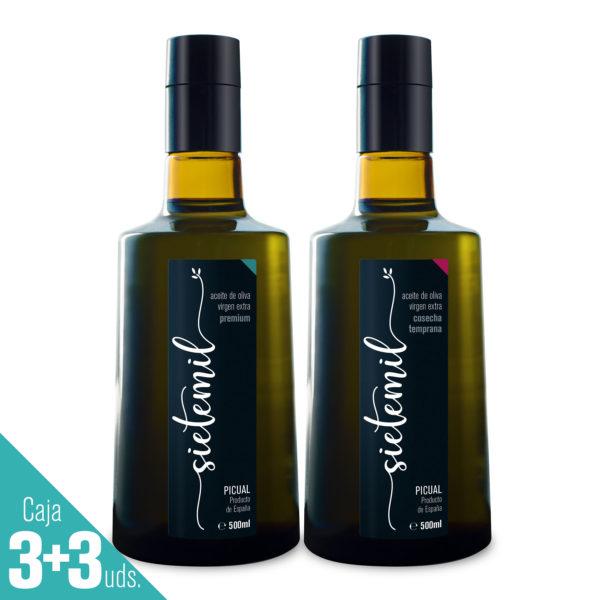 Aceite de Oliva Virgen Extra Sietemil Cosecha Temprana + Premium 500ml